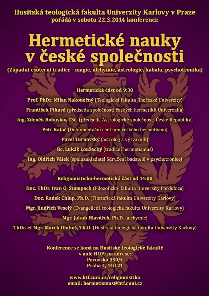 Hermetické nauky v České společnosti – Report z konference